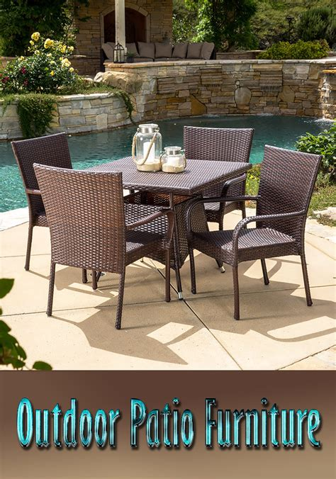 outdoor patio furniture types and materials corner