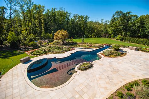 Landscape Design With Pool Custom Swimming Pool By Cipriano Landscape Design Beyond