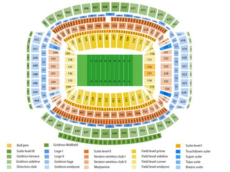 nrg stadium seating chart nrg stadium seating chart events in houston tx