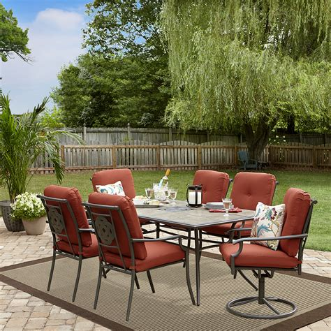 garden oasis patio furniture company garden oasis brookston 7 dining set terracotta limited availability outdoor living