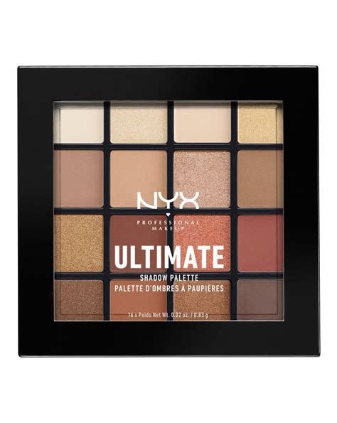 ultimate shadow palette warm neutrals by nyx
