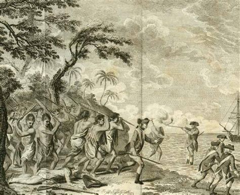 Cook S Illustrated by The Murder Of Captain Cook At O Why Ee