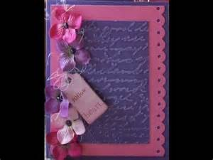 flowery s handmade card with stickles youtube