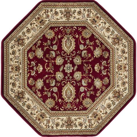 octagon rugs 5 tayse rugs sensation 5 ft 3 in traditional octagon area rug 4720 6 octagon the home