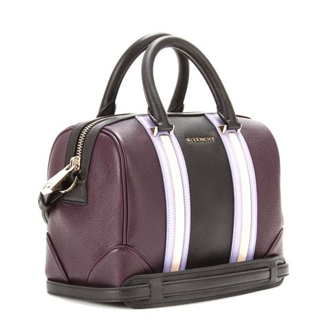 C H A N E L Bowling Bag 6320 Givenchy Lucrezia Mini Leather Bowling Bag In Purple Lyst