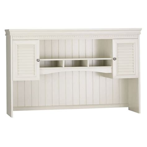 Bush Fairview Antique White L Desk Hutch Ebay White Hutch Desk