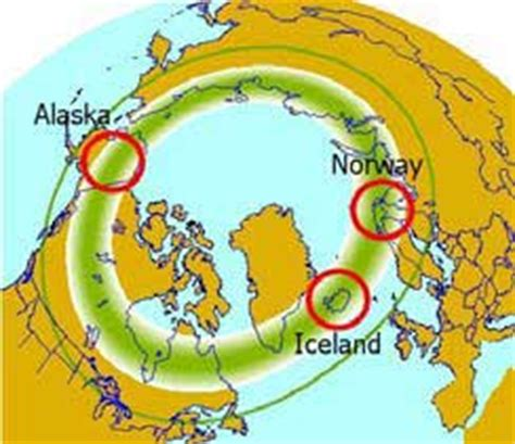 where are the northern lights located location northern lights a