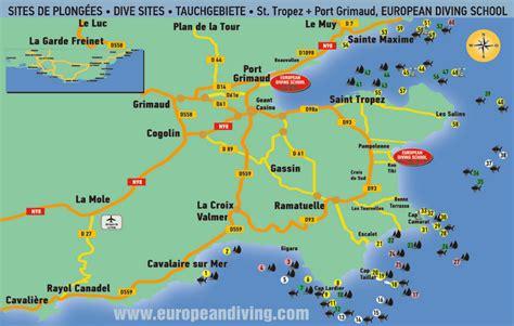 diving map st tropez port grimaud