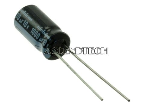 where are nichicon capacitors made radial electrolytic cap 10x nichicon 1000uf 10v 105 176 capacitors