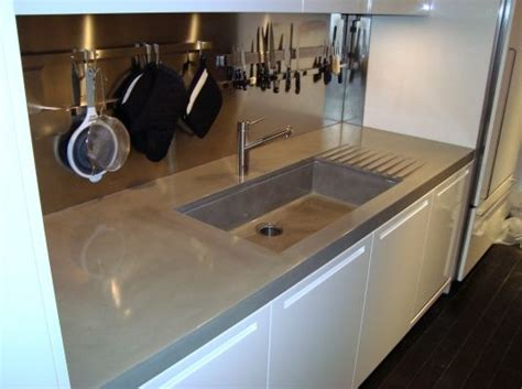 Oversized Sinks Kitchen by Oversized Concrete Countertops Including An Integrally