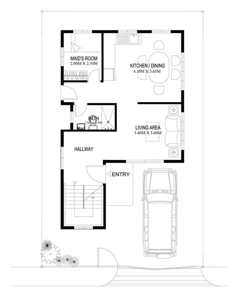 floor plan for two storey house in the philippines two story house plans series php 2014004