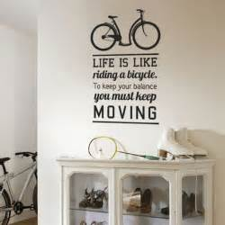wall decal quote bicycle ride inspirational quotes stickers quotesgram