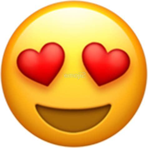 emoji love heart eyes emoji stickers redbubble