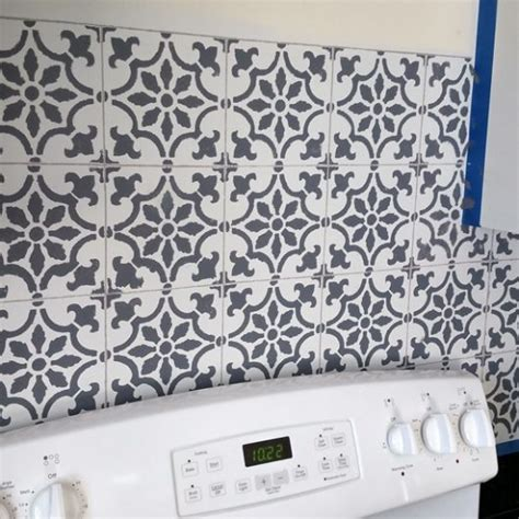 kitchen stencils designs paint a worthy faux tile kitchen backsplash 171 stencil stories
