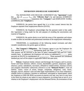 simple separation agreement template sle business separation agreement 5 free documents
