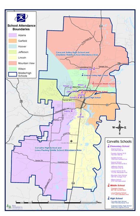 lincoln high school district map school boundaries corvallis school district