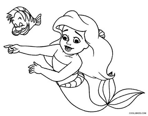 cartoon printable baby mermaid coloring pages coloring