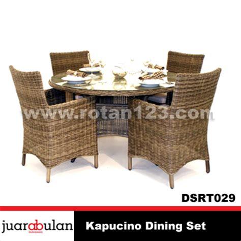 Meja Makan Anyaman harga jual kapucino dining set meja makan rotan sintetis