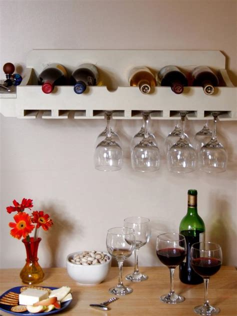 how to make a wine rack in a kitchen cabinet how to build a wine rack for bottles and glasses how tos