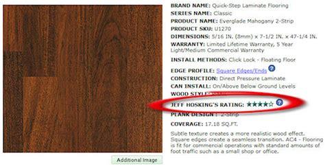 jeff hosking s laminate flooring rating system