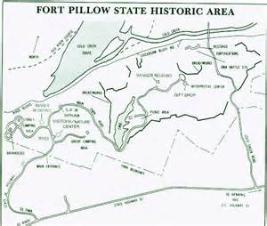 map of fort pillow