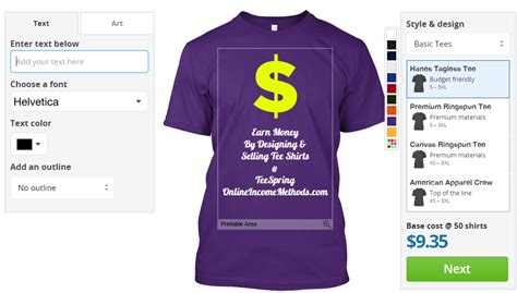design clothes online and earn money how to earn money selling t shirts at teespring