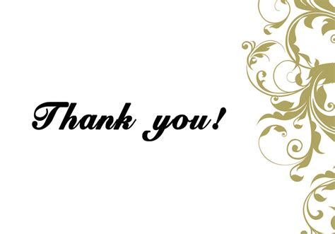 6 Thank You Card Templates Excel Pdf Formats Thank You Card Template For