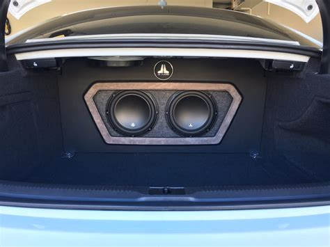 2013 audi a5 custom box w false wall 2 x jl audio