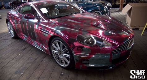 2013 gumball 3000 aston martin dbs gets chrome pink camo