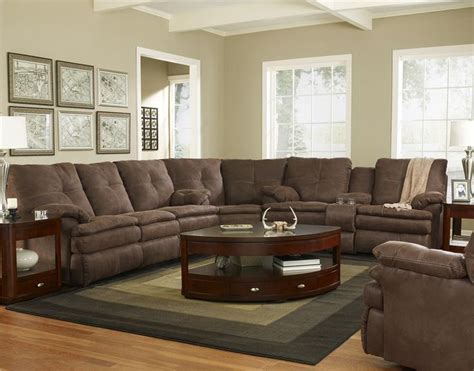 brown reclining sectional sofa 910 abileene brown sectional sofa by shea