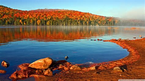 autumn lake desktop wallpaper wallpapersafari