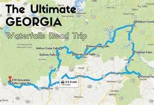 waterfalls in map the ultimate waterfalls road trip