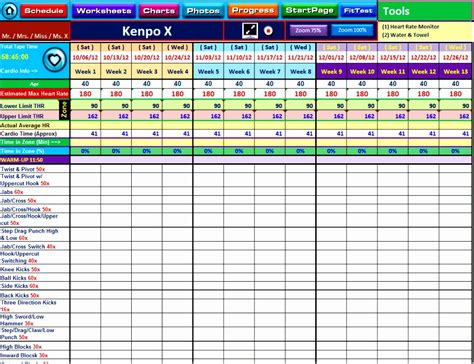 workout template spreadsheet 9 workout spreadsheet excel template exceltemplates
