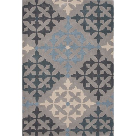 5x7 Rug Walmart by Trellis Chain And Tile Pattern Gray Blue