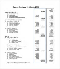 Balance Sheet Format by 13 Balance Sheet Exles In Word Pdf Free