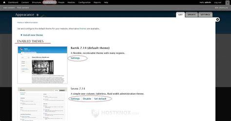 theme drupal tutorial hostknox drupal manage themes tutorial