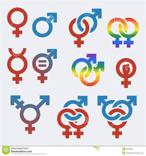 test orientamento sessuale vector symbols of sexual orientation and gender stock