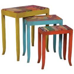Colorful Painted Dining Table » Home Design 2017