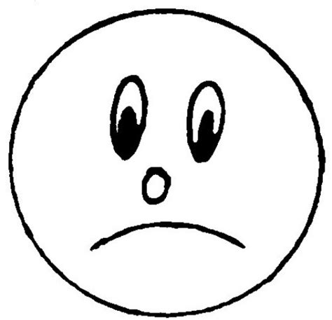 Sad Line Face Clipart Best Clipart Coloring Pages Smiley