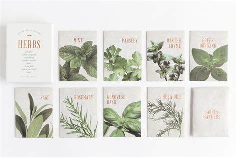 herb seed kit   floral society    kind herb