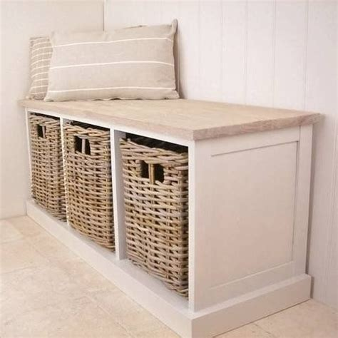storage bench seat with baskets southwold cedar wooden ivory storage bench seat wicker