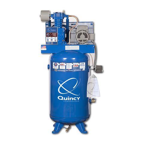 shop quincy compressor 80 gallon electric air compressor at lowes