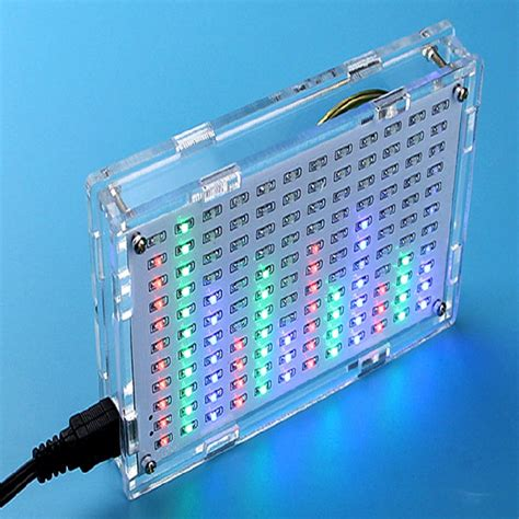 Lu 3d Led Transparan 7 Color lu led spektrum audio diy white jakartanotebook