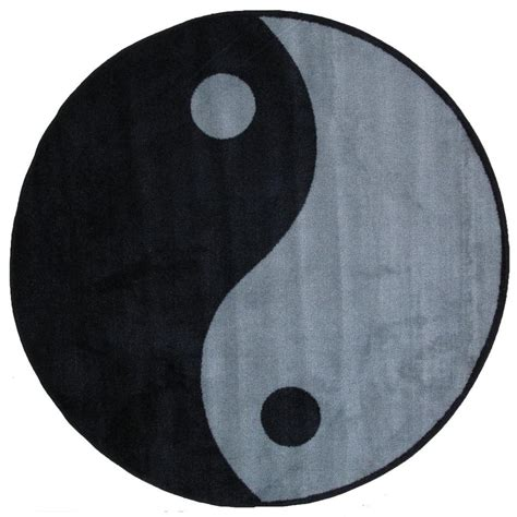 yin yang rug la rug time shape ying yang 51 in area rug fts 152 51rd the home depot