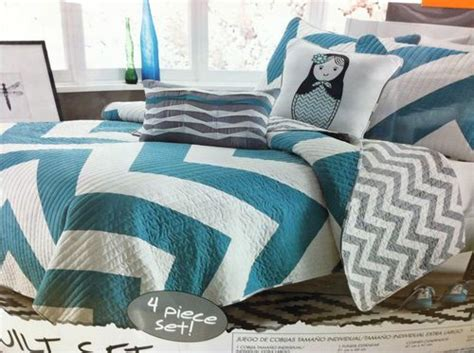 teal chevron bedding cadiz chevron 5 pc queen full quilt set turquoise teal blue grey new