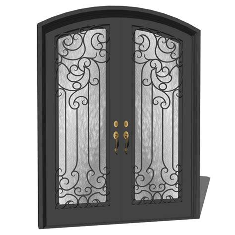 Exterior Wrought Iron Doors Iron Exterior Door 04 3d Model Formfonts 3d Models Textures