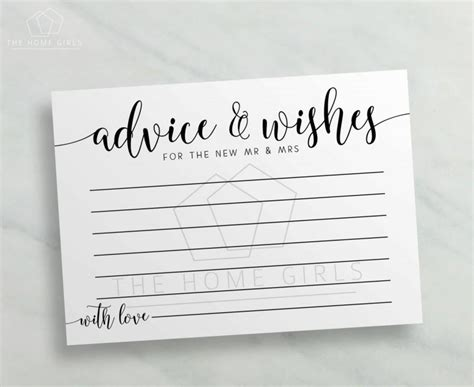 and groom advice cards template advice for the and groom cards midway media