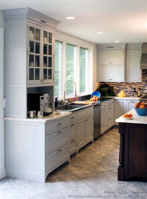 Kitchen Design With Shaker Cabinets Transitional Kitchen Design With Pale Blue Shaker Style