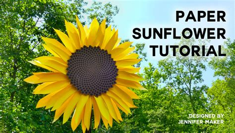 Paper Sunflower Tutorial | diy tree card greeting card creative print greeting cards