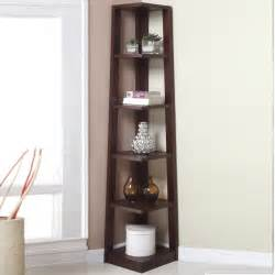 Discounted Kitchen Islands modern crafted walnut 5 tier angled wood bookshelf corner